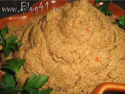 Рецепт приготовления паштета из говяжьей печени