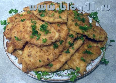 Рецепт приготовления куринного филе с чесночком.